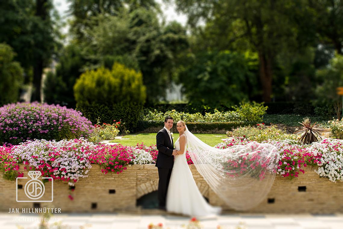 Brautpaar-Blumen-Rosengarten-Mainz-Portrait-Farbe