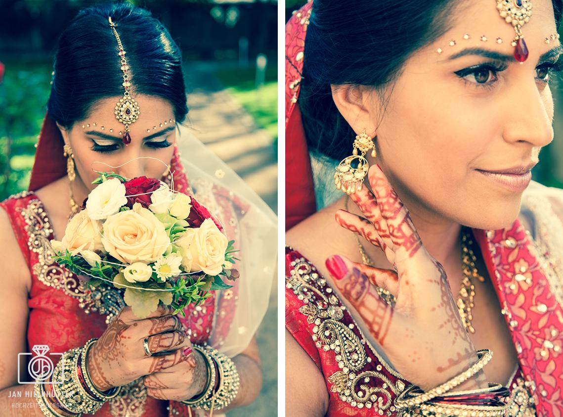 Blumenstrauss-Bollywood-Braut-Hochzeit-Schmuck-Henna-Tattoos