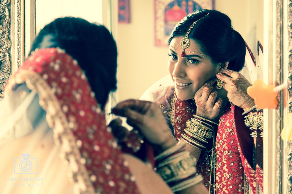 Bollywood-Braut-Hochzeit-Spiegel-Schmuck-Ohrringe