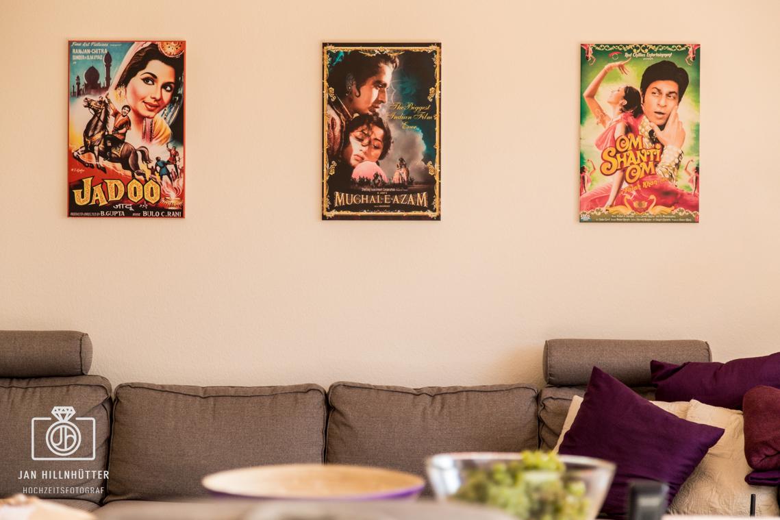 Bollywood-Hochzeit-Filmplakate