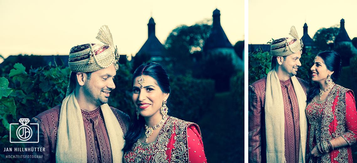 Bollywood-Hochzeitspaar-Weinberge