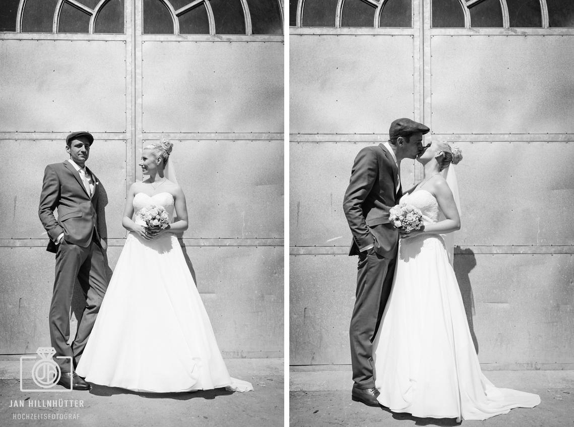 Vintage-Hochzeit-Hochzeitspaar-Portrait-SW-romantisch