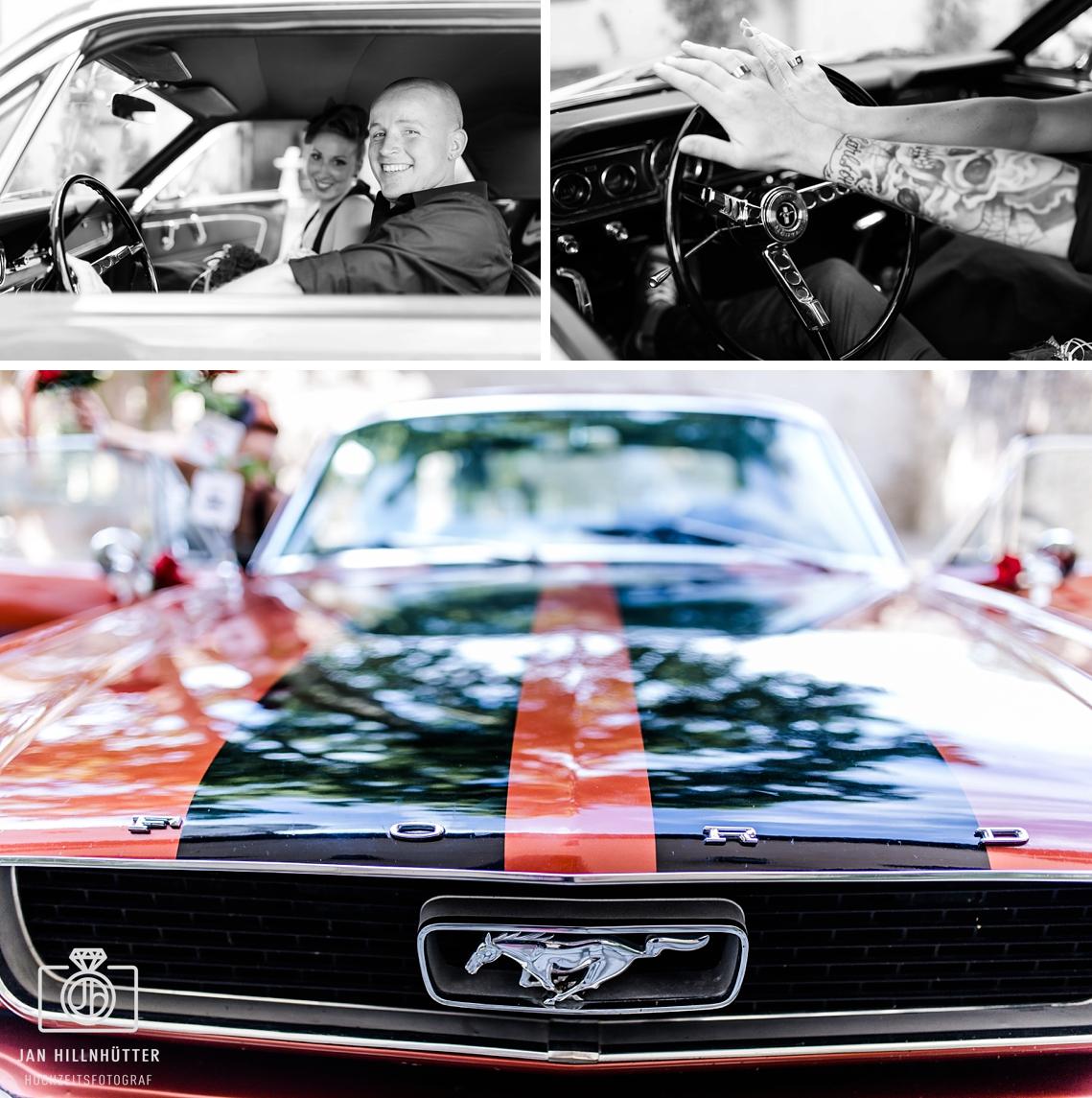 Ford-Mustang-Rockabilly-Brautpaar-Ringe-Tattoo-Burg-Eltville