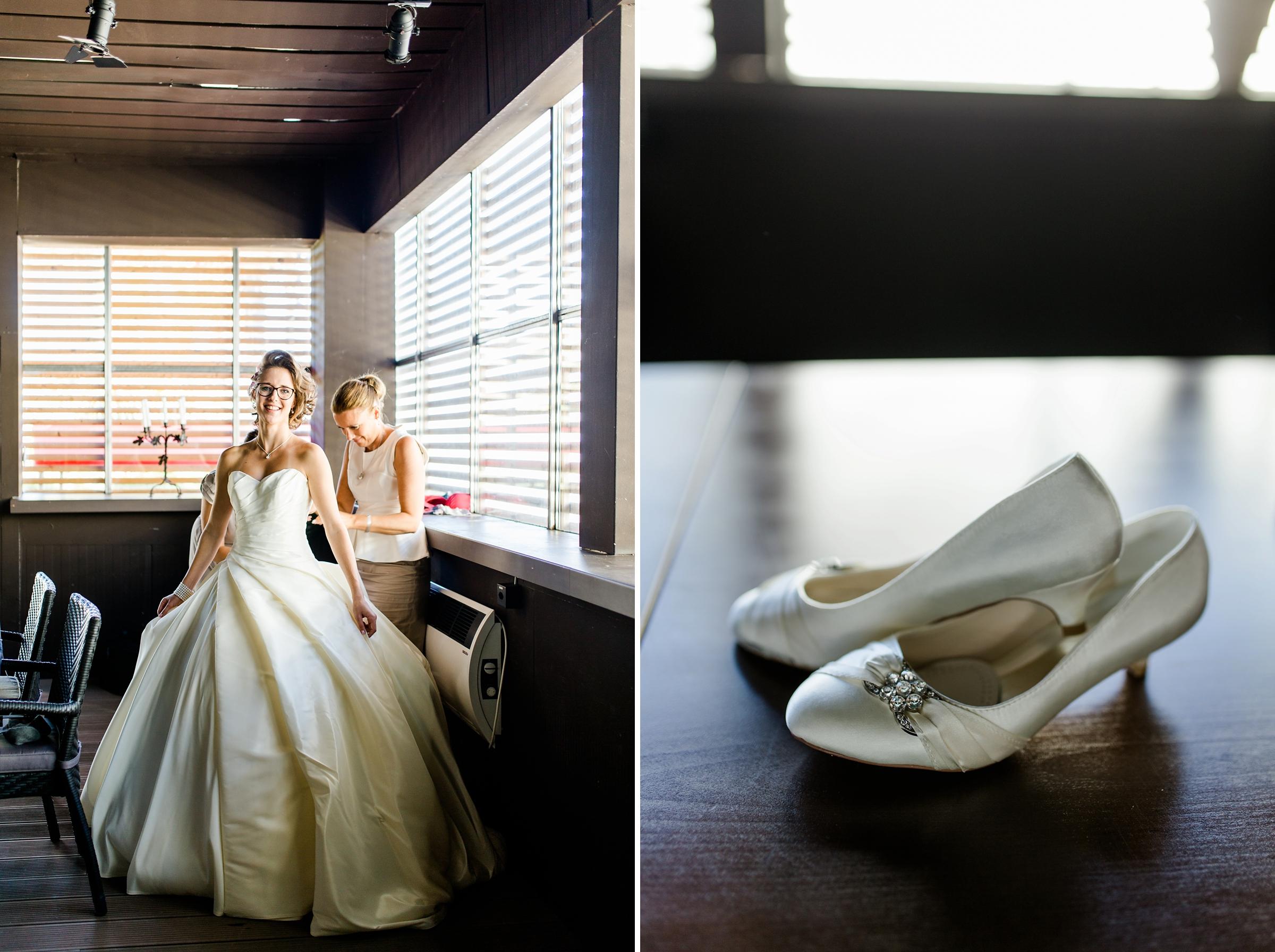 Hochzeitsreportage-Zuerich-Braut-Getting-Ready-Brautkleid-Brautschuhe-Giardino-Verde-Uitikon