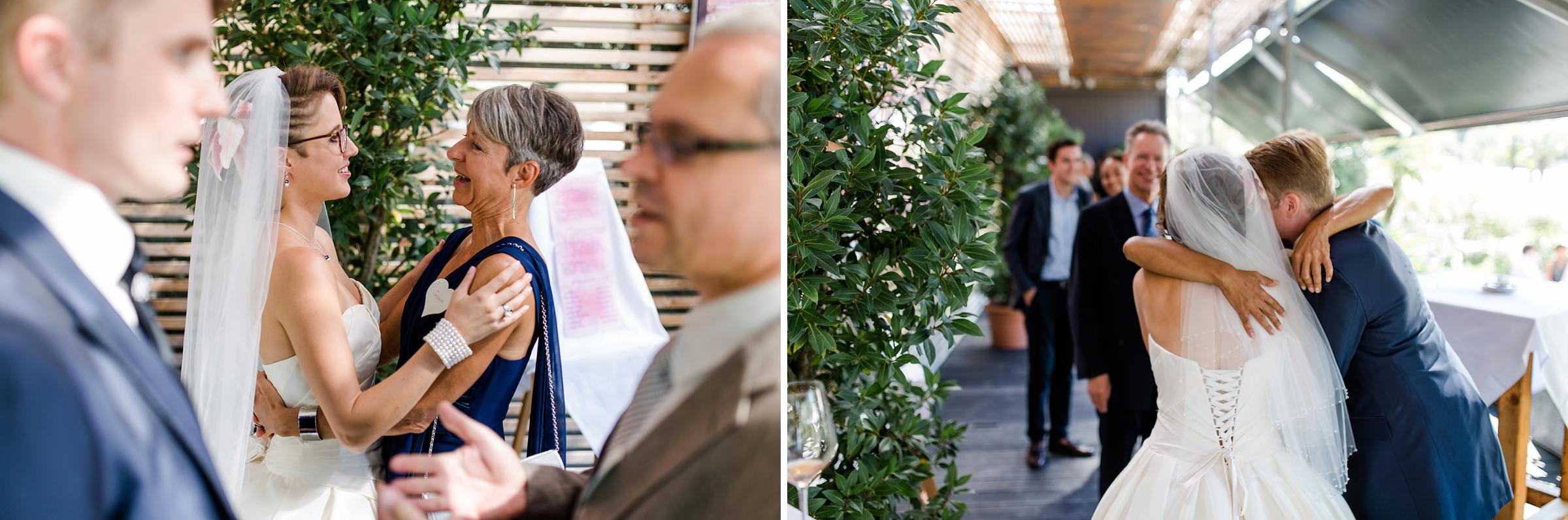 Hochzeitsreportage-Zuerich-Gaeste-freuen-sich-mit-Brautpaar-Giardino-Verde-Uitikon