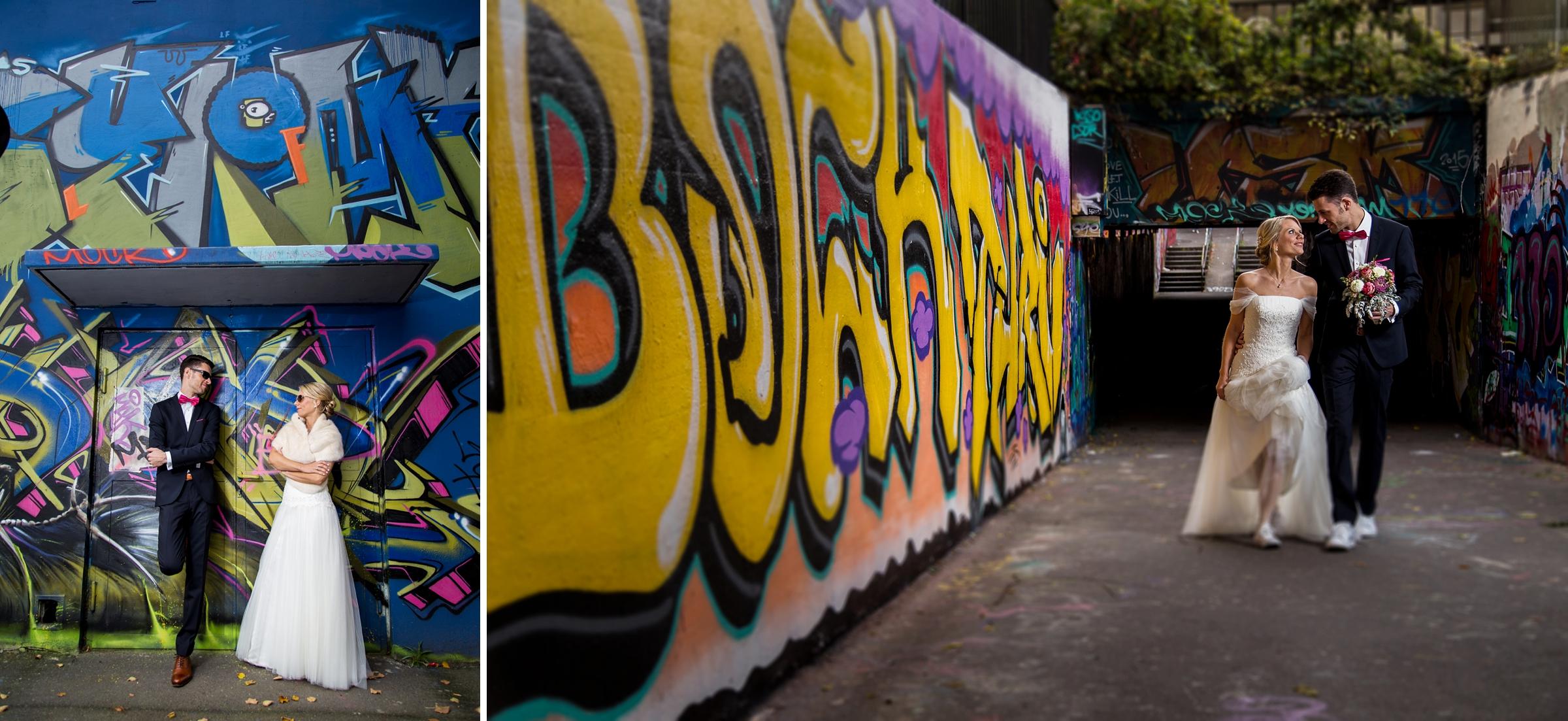 Hochzeitsfotograf Wiesbaden Ausgefallene Hochzeitsfotos Graffiti