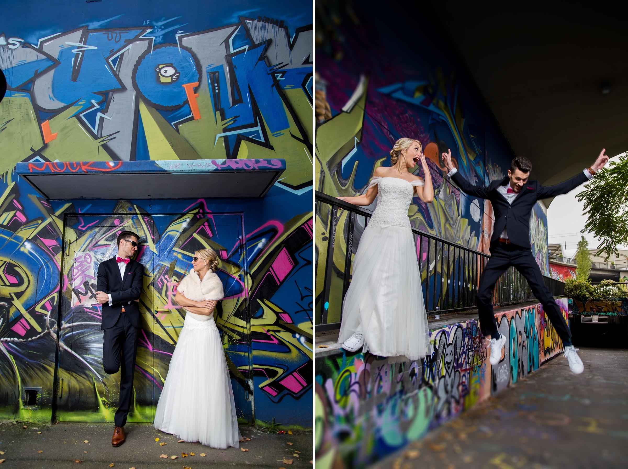 Hochzeitsreportage-Mainz-Wiesbaden-Graffiti-ausgefallenes-Brautpaar
