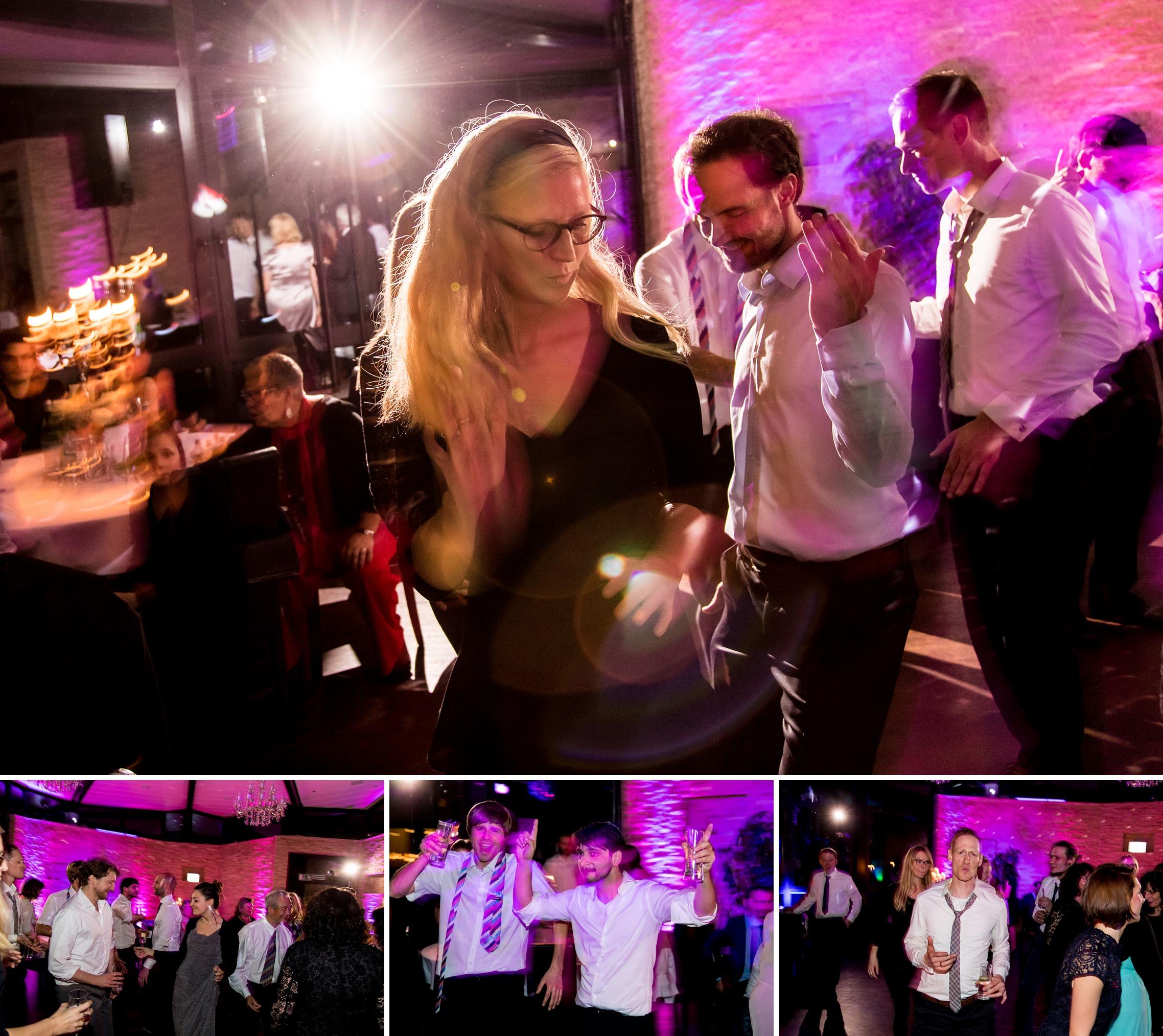 Party-Stimmung auf der Hochzeitsfeier in der Villa Vue