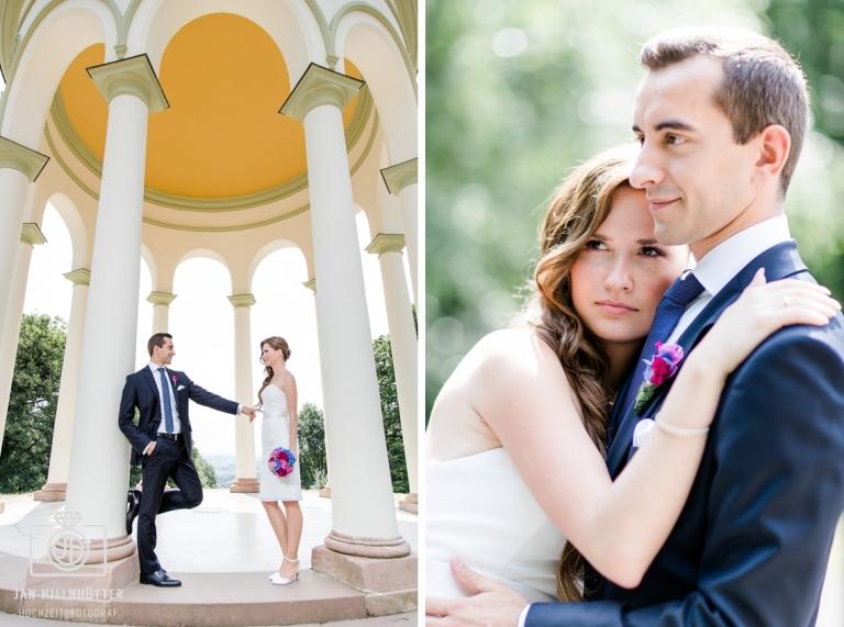 Hochzeitsfotograf Wiesbaden Romantisches Brautpaar Neroberg Pavillon