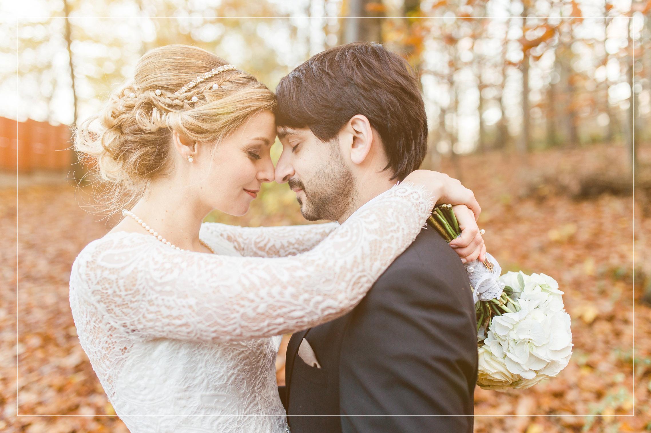 Herbstliche November-Hochzeitsreportage in Essen mit einem sehr verliebten Brautpaar