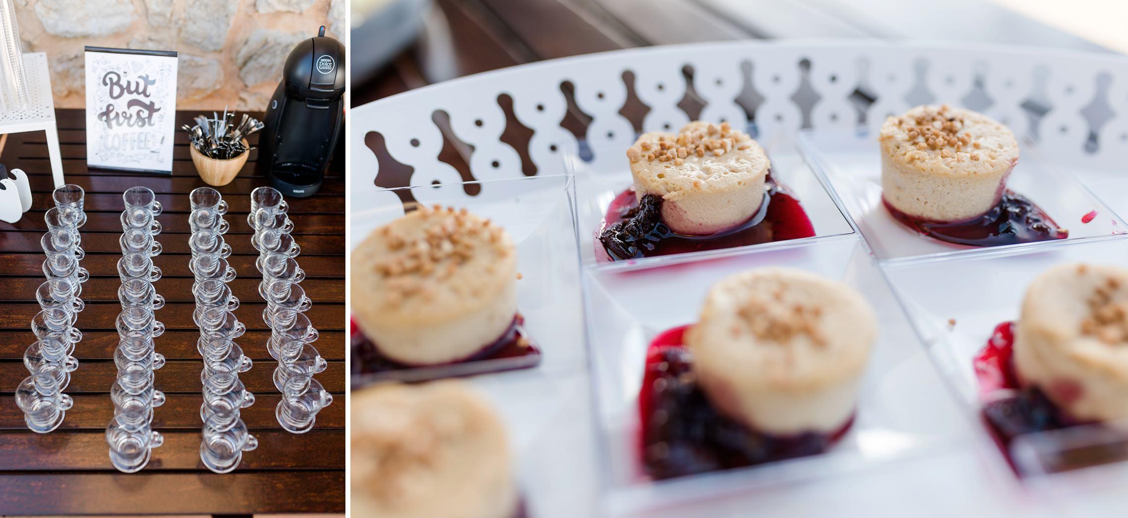 Details vom Dessert auf der Finca-Hochzeit