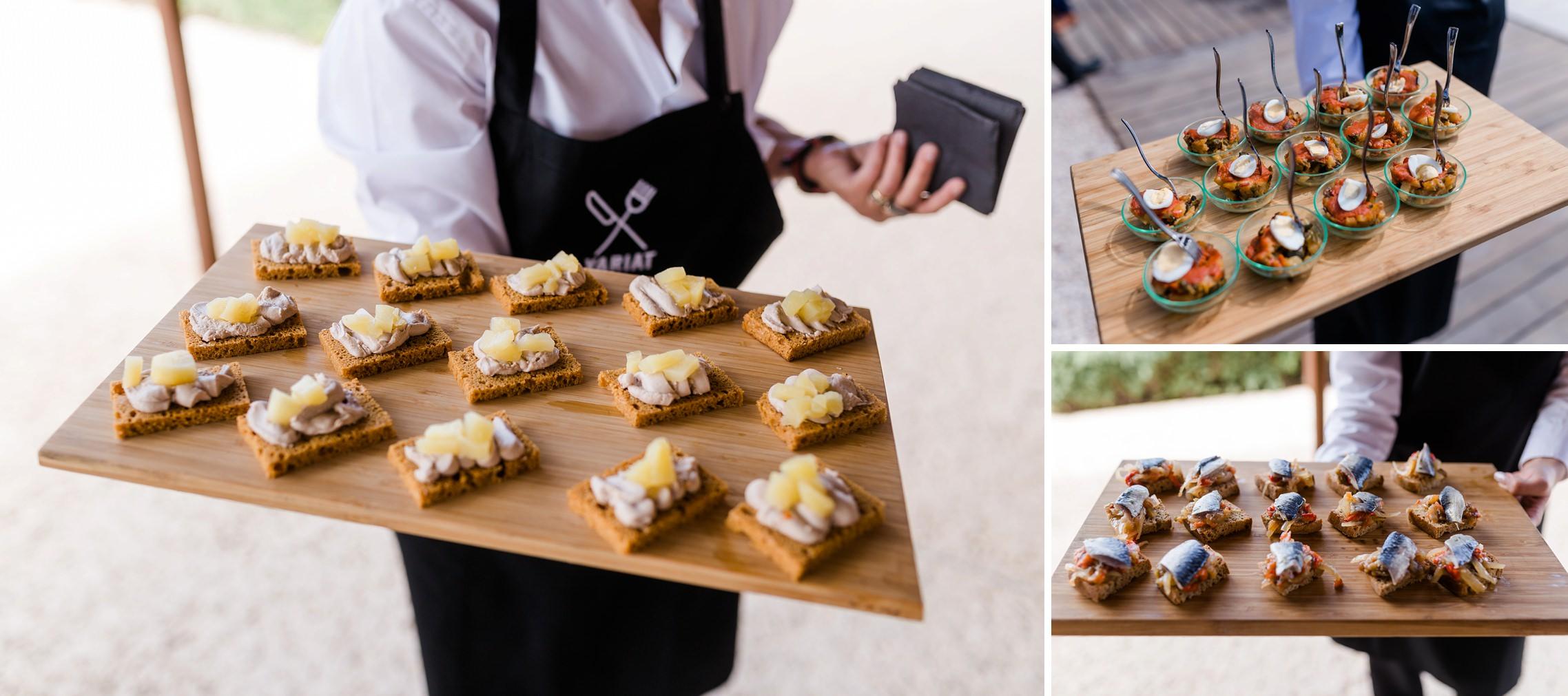 Flying Buffet / Fingerfood auf der Finca-Hochzeit