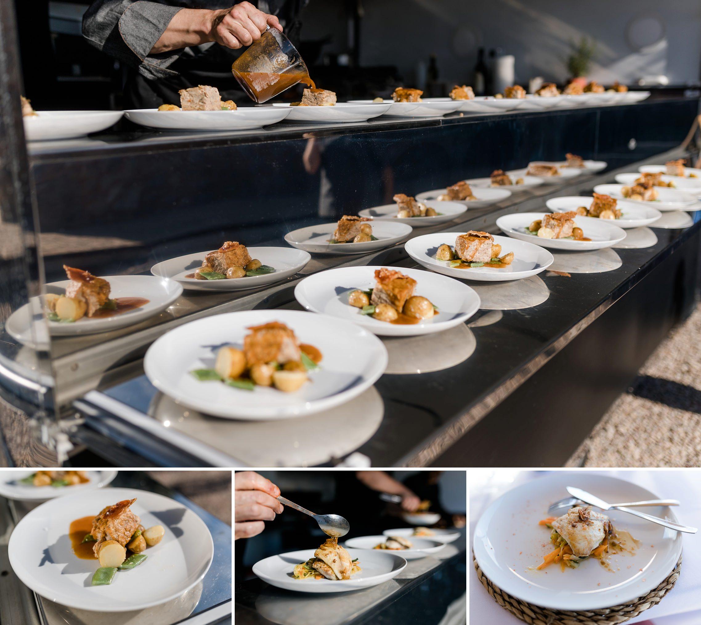 Essenszubereitung auf der Finca-Hochzeit in einem Food-Truck von Variat