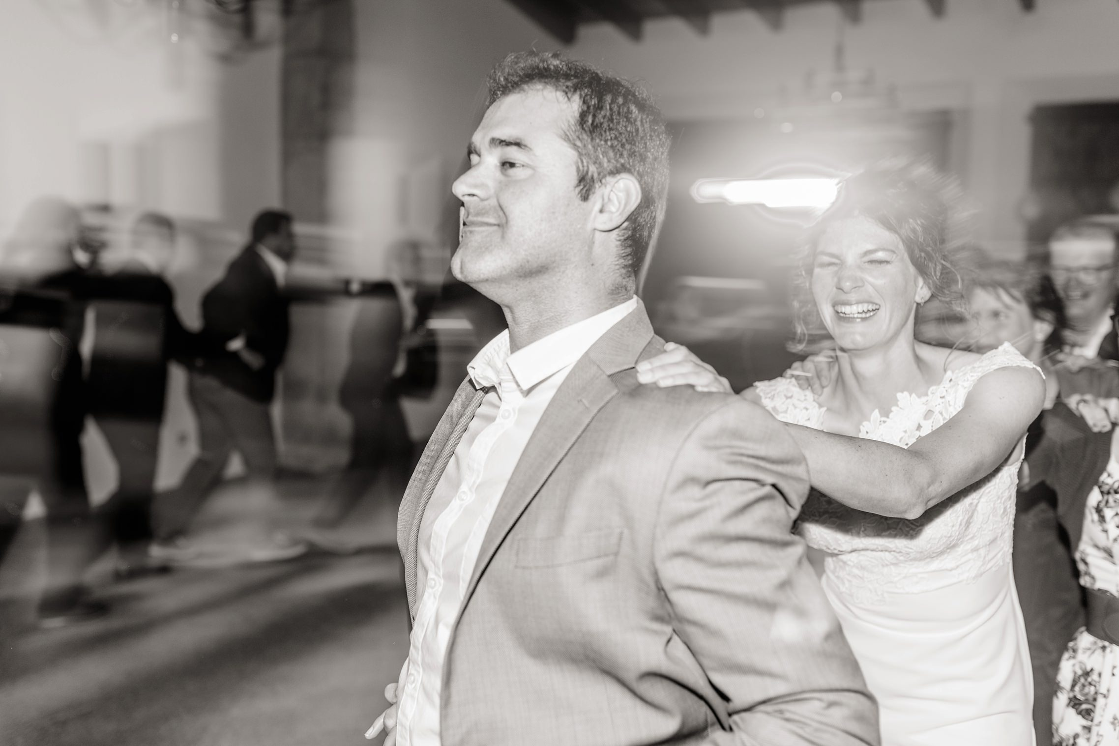 Polonaise auf der Finca-Hochzeit