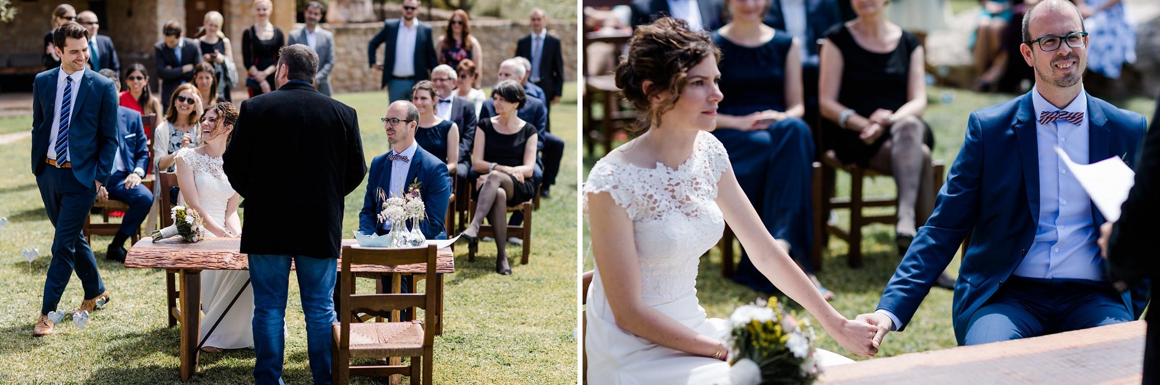 Trau-Zeremonie auf der Finca-Hochzeit