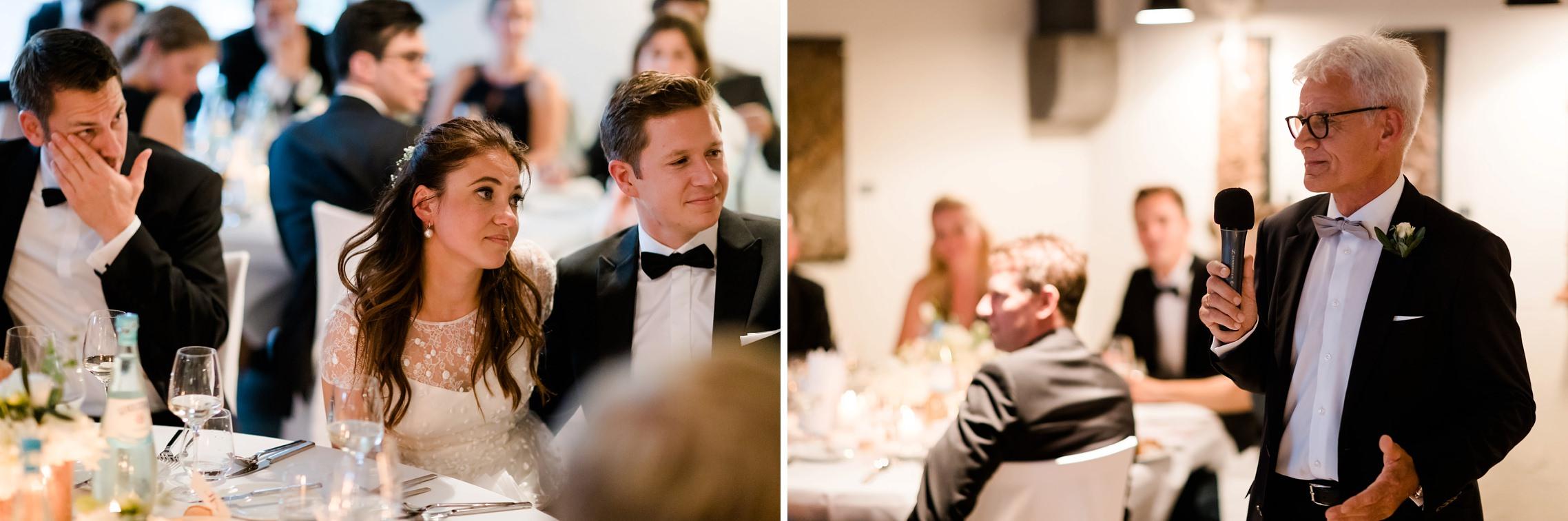 Der Brautvater hält eine emotionale Rede