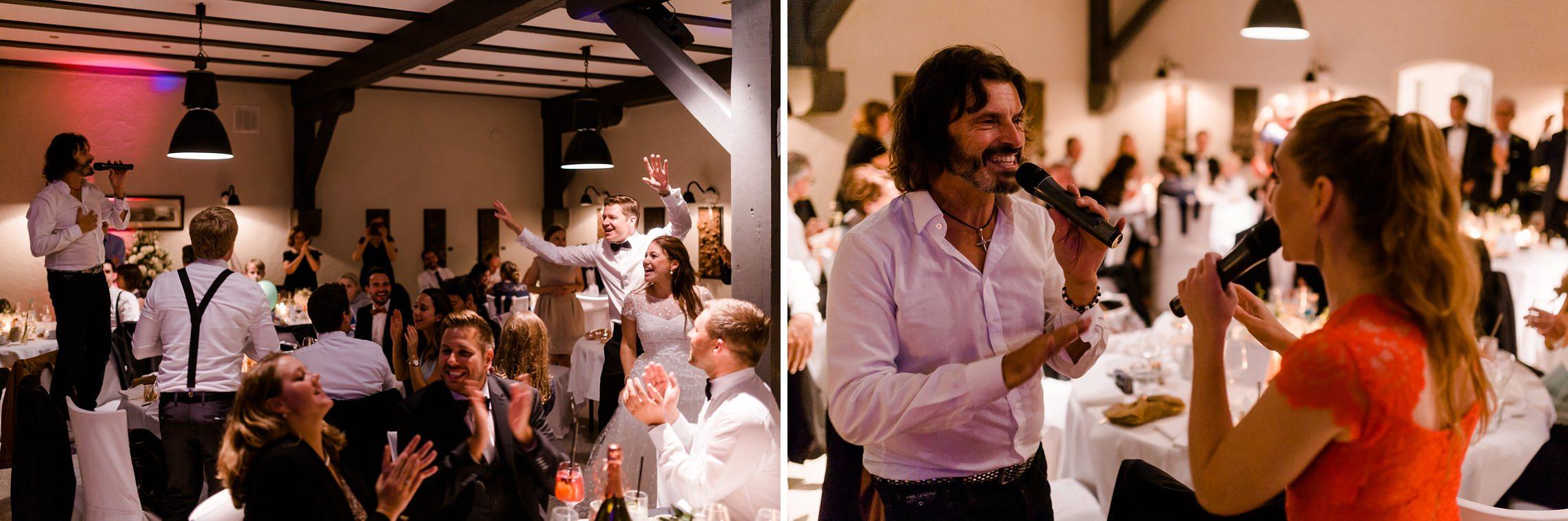 """""""De La Cream"""" sorgt für den passenden Soundtrack auf der Hochzeitsfeier auf Gut Hermannsberg."""