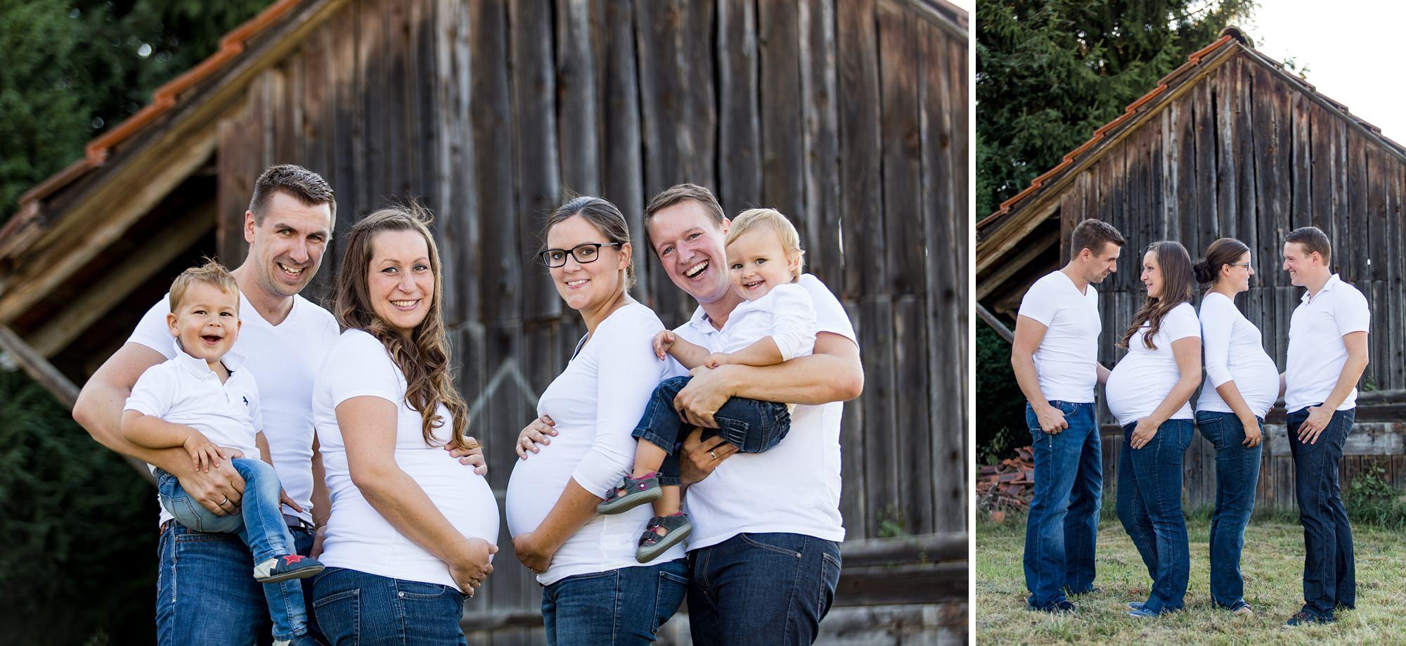 Familien-Shooting mit zwei schwangeren Müttern
