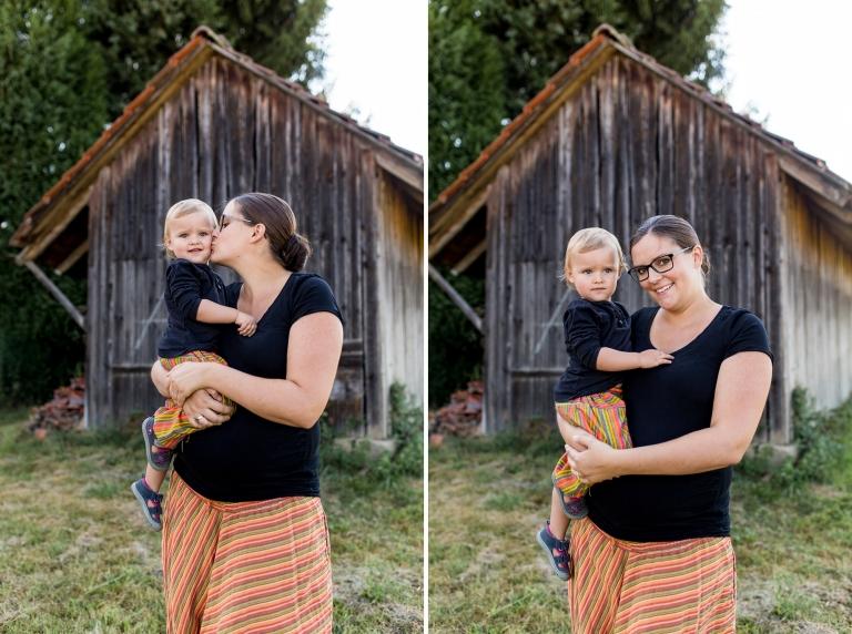Mutter Tochter Portrait beim Familien-Shooting