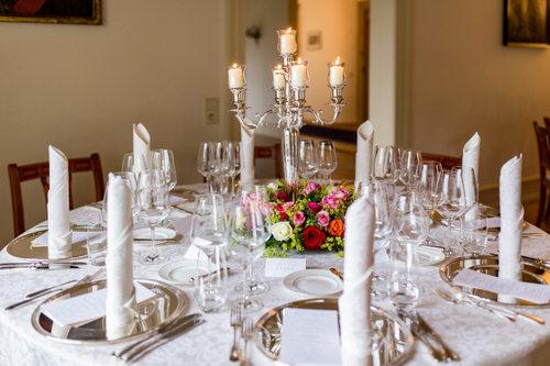 Tischdeko mit Kerzenständer