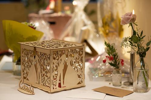 Holzkiste Glückwunschkarten Hochzeit